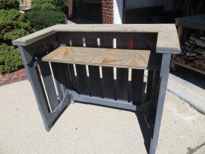 Rustic Wood Folding Bar